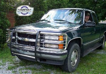 シボレー Silverado グリルガード 1988-98 Chevy Chevrolet Silverado chrome brush Grill Guard in Stainless Steel 1988年から1998年シボレーシボレーシルバラードクロムブラシステンレス鋼のグリルガード