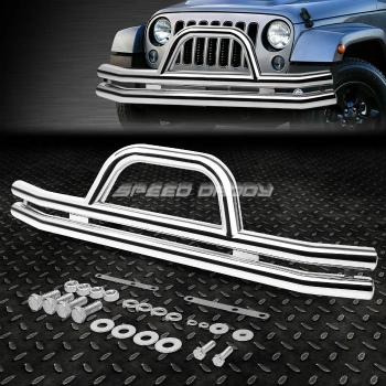 Jeep ジープ グリルガード OE STYLE CHROME STAINLESS STEEL FRONT BRUSH GRILLE GUARD FOR 87-06 JEEP WRANGLER 87から06 JEEPラングラーのためのOE STYLE CHROME STAINLESS STEEL FRONT BRUSH GRILLE GUARD