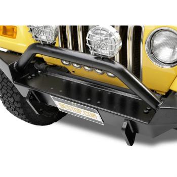 Jeep ジープ グリルガード 42906-01 Bestop HighRock 4x4 Tubular Grille Guard for Jeep Wrangler 1987-2006 ジープラングラー1987-2006のための42906から01 Bestop HighRock 4x4の管状グリルガード
