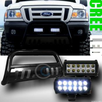 フォード RANGER グリルガード BLACK BULL BAR BUMPER GRILL GUARD+36W CREE LED FOG LIGHTS 1998-2011 FORD RANGER BLACK BULL BAR BUMPER GRILL GUARD + 36W CREE LEDフォグライト1998から2011 FORD RANGER