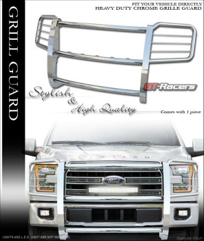 フォード F-150 グリルガード FOR 2015-2016 FORD F150 STAINLLESS CHROME BRUSH BUMPER GRILL GRILLE COVER GUARD 2015-2016フォードF150 STAINLLESS CHROME BRUSH BUMPER GRILLグリルカバーGUARD