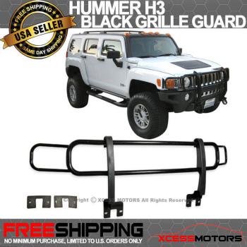 ハマー H3 グリルガード Hummer H3 06-10 Black Front Grill Brush Guard Grille ハマーH3 06-10ブラックフロントグリルブラシガードグリル