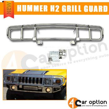 ハマー H2 グリルガード 03-09 Hummer H2 H2T Sut SUV Chrome Polished Brush Grille Front Guard ブラシグリルフロントガードポリッシュ03-09ハマーH2 SUT H2T SUVクローム