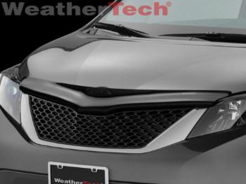 トヨタ Sienna バグガード WeatherTech? Stone & Bug Deflector Hood Shield - Toyota Sienna - 2011-2014 WeatherTech?ストーン&バグディフレクターフードシールド - トヨタシエナ - 2011-2014