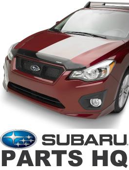 Subaru インプレッサ バグガード 2012-17 Subaru Impreza & Crosstrek OEM Hood Protector Bug Deflector E231SFJ000 2012から17スバルインプレッサ&Crosstrek OEMフードプロテクターバグディフレクターE231SFJ000