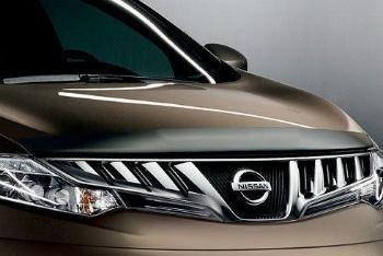 NISSAN Murano  バグガード Nissan Murano Hood Protector / Bug Deflector OEM 2009-2014 日産ムラーノフードプロテクター/バグディフレクターOEM 2009-2014