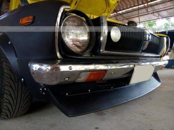 TOYOTA COROLLA KE30 スポイラー JDM NEW set for TOYOTA COROLLA KE30 Coupe Front lip spoiler premium sheet metal トヨタカローラKE30クーペフロントリップスポイラープレミアムシートメタル用のJDM NEWセット