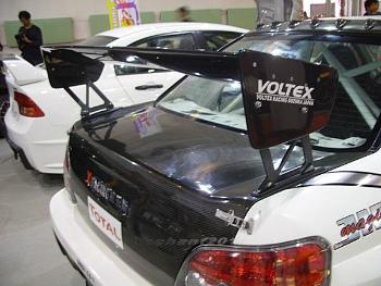 SUBARU インプレッサ スポイラー Subaru Impreza GD WRX 7-9 Carbon Fiber Voltex Rear Spoiler GT Wing with Base ベースとスバルインプレッサGD WRX 7-9カーボンファイバーボルテックスリアスポイラーGTウイング