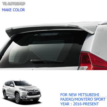 MITSUBISHI Pajero スポイラー For Mitsubishi Pajero QE Montero Sport 2016 2017 Rear Back Tailgate Roof Spoiler 三菱パジェロQEモンテロスポーツ2016 2017リアバックテールゲートルーフスポイラーのための