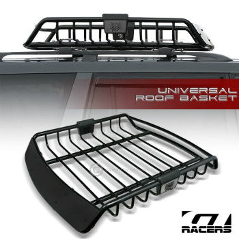 ルーフバスケット UNIVERSAL BLK ROOF RACK CAGE BASKET TRAVEL LUGGAGE HOLDER TOP TRAY w/FAIRING G18 UNIVERSAL BLKルーフラックCAGEバスケットTRAVEL荷物HOLDER TOP TRAY G18をフェア/ワット