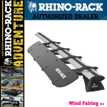 フェアリング Rhino Rack Aerodynamic Roof Wind Fairing Air Deflector Kit 38 inches RF2 RhinoはRF2空力ルーフウインドフェアリングエアディフレクターキット38インチラック