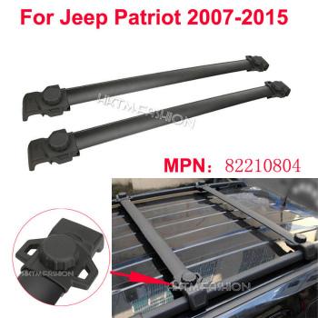 クロスバー 2pcs Black Aluminum ABS Roof Rack Cross Bar for 2007-2015 Jeep Patriot OE Style 2個ブラックアルミABS屋根の2007年から2015年ジープパトリオットOEスタイルのためにクロスバーをラック