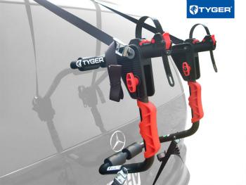 サイクルキャリア TYGER Deluxe 1-bike Trunk Mount Black Carrier Rack For Sedan/Hatchback/SUV/Van セダン/ハッチバック/ SUV /バンタイガーデラックス1バイクトランクマウントブラックキャリアラック