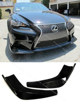 レクサス IS250 350 エアロ Carbon Fiber Front Lip Spoiler Bodykit for 2014-2015 Lexus IS250 IS350 F Sport 2014-2015レクサスIS250 IS350 FスポーツのためのカーボンファイバーフロントリップスポイラーBodykit