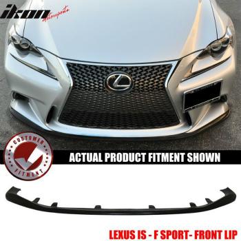 レクサス IS250 350 エアロ 14-16 Lexus IS F Sport JDM Style Front Bumper Lip Splitter - PU Urethane 14-16レクサスIS FスポーツJDMスタイルフロントバンパーリップスプリッタ - PUウレタン