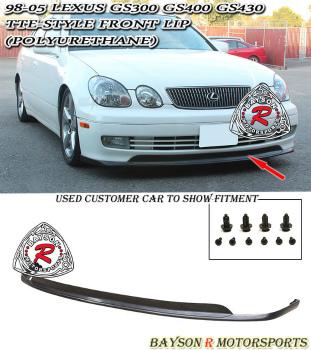 レクサス GS300/GS400/GS430 エアロ TTE-Style Front Lip (Urethane) Fits 98-05 Lexus GS300/GS400/GS430 TTE-スタイルフロントリップ(ウレタン)が98から05レクサスGS300 / GS400 / GS430に適合します