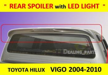 トヨタ HILUX   エアロ REAR SPOILER WITH LED LIGHT FOR TOYOTA HILUX VIGO SR5 MK6 2004 - 2011 トヨタハイラックスVIGO SR5 MK6 FOR LEDライト付きリアスポイラー2004年から2011年
