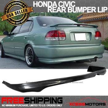 日産 Sentra  エアロ Fit For Rear Bumper Lip Spoiler Black Urthane Fit For Nissan Sentra 91-1994 B13 日産セントラ91から1994 B13のためにリアバンパーリップスポイラーブラックUrthaneフィットのための適合