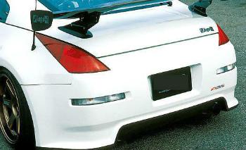 日産 350Z エアロ for 350Z 03-08 Nissan WN style Poly Fiber Rear bumper body kit 350Z 03から08日産WNスタイルポリファイバーリアバンパーボディキット