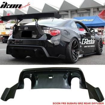 スバル BRZ エアロ Fits 13-17 Scion FRS Subaru BRZ GR Rocket Bunny Rear Bumper Diffuser Lip- ABS 13-17サイオンFRSスバルBRZ GRロケットバニーリアバンパーディフューザーlipo-の異形のABSに適合
