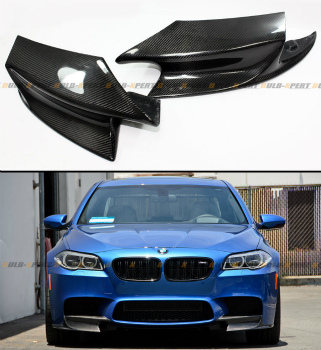 BMW M5 エアロ PAIR REAL CARBON FIBER FRONT BUMPER SPLITTERS LIP KIT FOR 2012-2015 BMW F10 M5 2012-2015 BMW F10 M5 FOR PAIR REAL炭素繊維フロントバンパースプリッターLIPキット