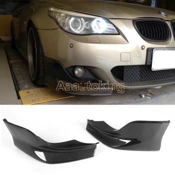 ☆送料無料☆USパーツ 海外メーカー輸入品 BMW E60 エアロ 蔵 Carbon 市販 Fiber Front Splitter BMWバンパー6月10日のためにカーボンファイバーフロントスプリッターコーナーフラップE60 for 06-10 Corner M-Sport Bumper M-Tech M-スポーツMテック Flaps