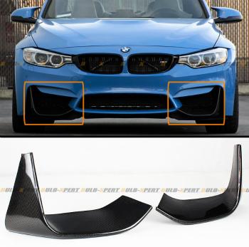 BMW F82 F83 M4 エアロ 2 PCS ADD-ON CARBON FIBER FRONT BUMPER SPLITTERS LIP FOR 2015-16 BMW F82 F83 M4 2 PCSはADD-ON 2015から16 BMW F82 F83 M4用カーボンファイバーフロントバンパースプリッターLIPを