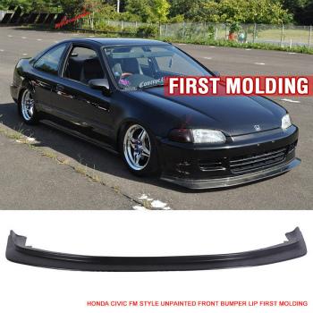 ホンダ シビック エアロ Fit For 92-95 Honda Civic JDM First DP Style Front Bumper Lip Chin FM Molding 92-95ホンダシビックJDMまずDPスタイルフロントバンパーリップチンFM成形用フィット