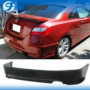 ホンダ シビック エアロ HFP Style Urethane Rear Bumper Lip Spoiler For 06-11 Honda Civic 2DR Coupe 06-11ホンダシビック2DRクーペについてはHFPスタイルウレタンリアバンパーリップスポイラー