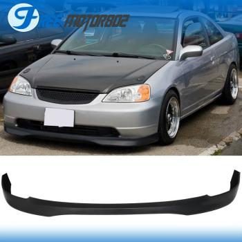 ホンダ シビック エアロ Fits 01-03 Honda Civic 2 4dr Type R Style Front Lip PP 01-03ホンダシビック2の4DRタイプRスタイルフロントリップPPが適合します