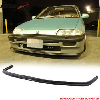 ホンダ シビック エアロ OEM Factor SI Style 88-91 Honda Civic Front Bumper Lip - PU OEMファクターSIスタイル88-91ホンダシビックフロントバンパーリップ - PU