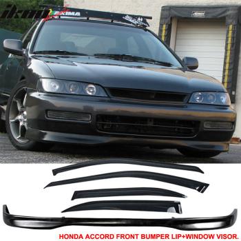 ホンダ ACCORD  エアロ 96-97 Honda Accord 4Dr TR Style Front Bumper Lip + Sun Window Visor 96-97ホンダアコード4DR TRスタイルフロントバンパーリップ+日ウィンドウバイザー