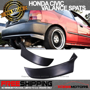 ホンダ シビック エアロ Honda Civic 96-00 3Dr Hatchback PU 2Pc Rear Bumper Lip Valance Spats ホンダシビック96から00 3DRハッチバックPU 2PCリアバンパーリップヴァランススパッツ