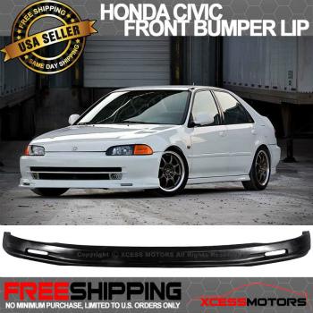 ホンダ シビック エアロ 92-95 Honda Civic 4Dr Sedan Poly Urethane Front Bumper Lip Spoiler 92-95ホンダシビック4DRセダンポリウレタンフロントバンパーリップスポイラー