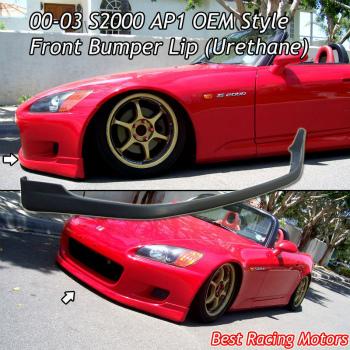 ホンダ S2000 エアロ TR Style Front Lip (Urethane) Fits 00-03 Honda S2000 AP1 TRスタイルフロントリップ(ウレタン)が00から03ホンダS2000 AP1に適合します
