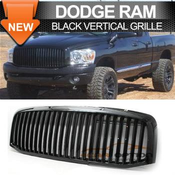 Dodge Ram 1500 2500 3500 グリル 06-08 Dodge Ram 1500 2500 3500 Black Vertical Grille Grill 06-08ダッジラム1500 2500 3500ブラック垂直グリルグリル