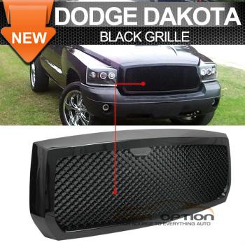 Dodge Dakota グリル 05-07 Dodge Dakota B-Style Mesh Type Front Grille Black 05-07ダッジダコタB-スタイルメッシュタイプのフロントグリルブラック