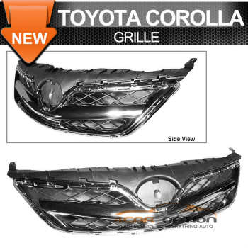 Toyota Corolla グリル For 11-12 Toyota Corolla OE Style Front Grill Grille Chrome 11-12トヨタカローラOEスタイルフロントグリルグリルChromeの