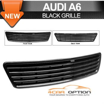 Audi A6 C5 グリル 98-01 Audi A6 C5 Black Front Grille Sedan Wagon 98から01アウディA6 C5ブラックフロントグリルセダンワゴン