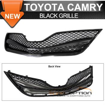 Toyota Camry グリル 10-11 Toyota Camry Black ABS Front Upper Hood Mesh Grill Grille 10-11トヨタカムリブラックABSフロントアッパーフードメッシュグリルグリル