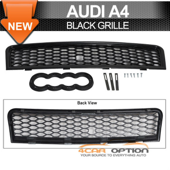 Audi A4 RS グリル 02-05 Audi A4 RS Style Front Grill Grille Black 2003 2004 02-05アウディA4 RSスタイルフロントグリルグリルブラック2003 2004