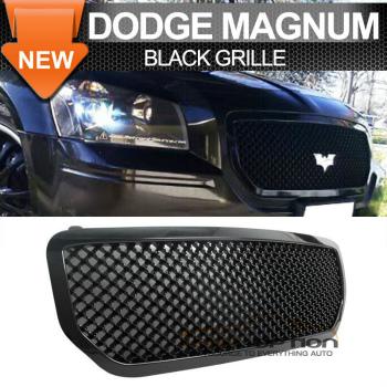 Dodge Magnum R T Sxt グリル 05-07 Dodge Magnum R T Sxt Upper Mesh Grille Grill Black 05-07ダッジマグナムR T SXTアッパーメッシュグリルグリルブラック