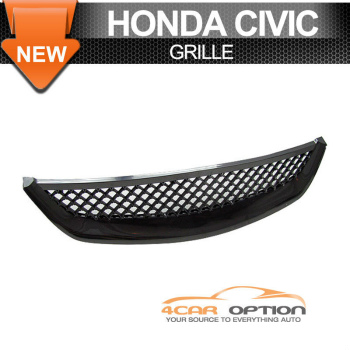 Honda Civic Em ES LX DX EX Sedan Coupe グリル 01-03 Honda Civic Em ES LX DX EX Sedan Coupe Front Hood Bumper Grille Black 01-03ホンダシビックエムES LX DX EXセダンクーペフロントフードバンパーグリルブラック
