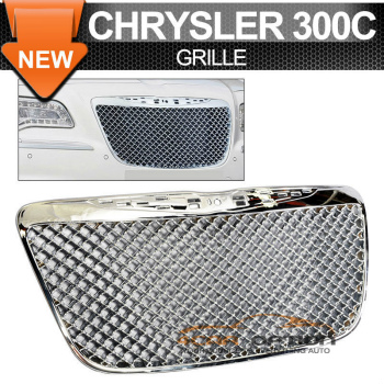 Chrysler 300 300C B グリル 11-14 Chrysler 300 300C B Style Chrome Front Hood Upper Grill Mesh Grille 11-14クライスラー300 300C Bスタイルクロームフロントフードアッパーグリルメッシュグリル