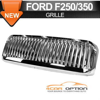 Ford F250 F350 グリル 99-04 Ford F250 F350 Excursion Vertical Grille Chrome 99から04フォードF250 F350エクスカーション垂直グリルクローム