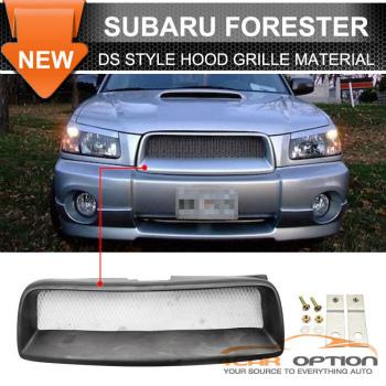 Subaru Forester グリル Fit 04-05 Subaru Forester Sg DS Style 4Dr Sedan Wagon Front Hood Grille Mesh フィット04-05スバルフォレスターSgとDSスタイル4DRセダンワゴンフロントフードグリルメッシュ