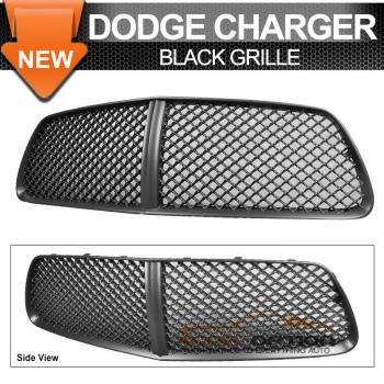 Dodge Charger B Style グリル 11-14 Dodge Charger B Style Black Front Mesh Grill Grille 11-14ダッジチャージャーBスタイルブラックフロントメッシュグリルグリル