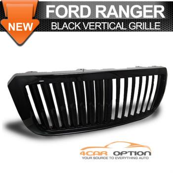 Ford Ranger グリル 04-07 Ford Ranger Vertical Hood Grill Grille Black 04 04-07フォードレンジャー垂直フードグリルグリルブラック04