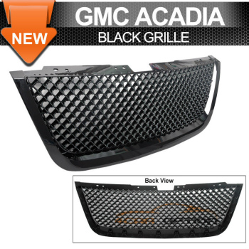 GMC Acadia グリル 07-09 GMC Acadia Slt Sle Front Mesh Grill Grille Black 07-09 GMCアカディアSLT SLEフロントメッシュグリルグリルブラック