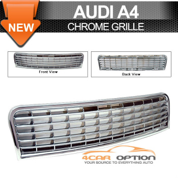 Audi A4 グリル 02-05 Audi A4 ABS Sport Chrome Grille Grill 03 02-05アウディA4 ABSスポーツクロームグリルグリル03